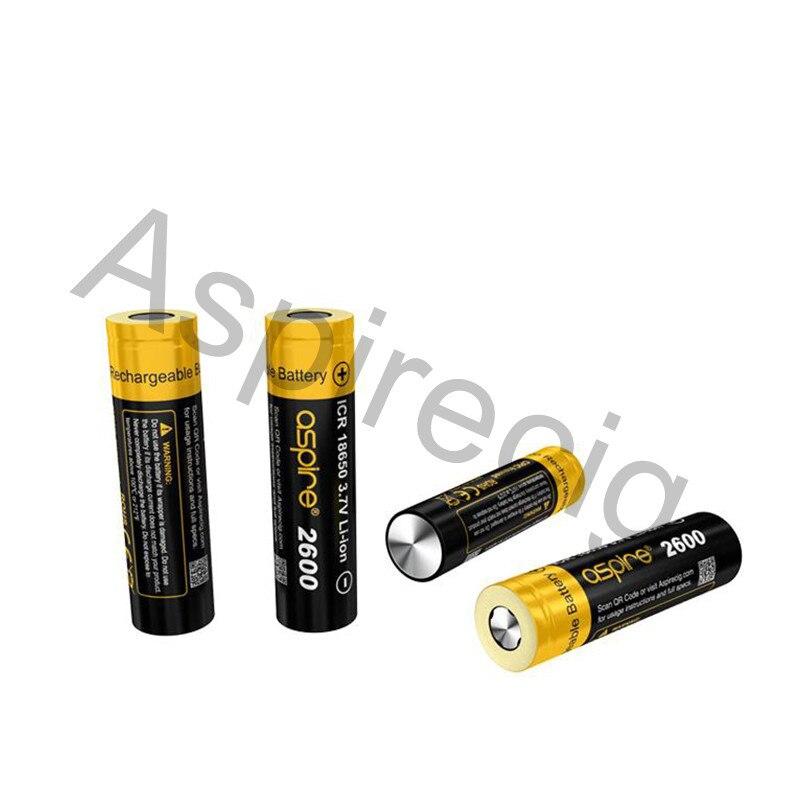 STOCK Aspire 18650 Batterie ICR 18650 3.7 V Li-ion Super Haute Décharge 1800 mah Ecig Batteries Aspire 18650 Cellulaire Hybride IMR 2 pcs