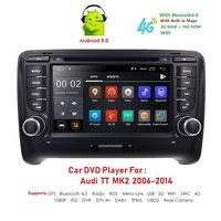 Ossuret DSP IPS Android 9.0 2 DIN Car DVD GPS For Audi TT MK2 8J 2006 2007 2008 2009 2010 2011 2012 multimedia player radio obd2