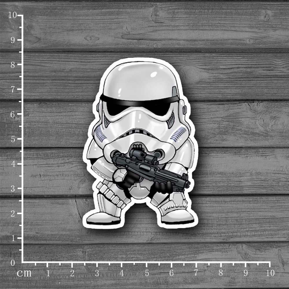 Star Wars Karakter Waterdichte PVC Laptop Notebook Huid Sticker Auto Styling Home decor jdm Voor kid Speelgoed Koffer Stickers [single]