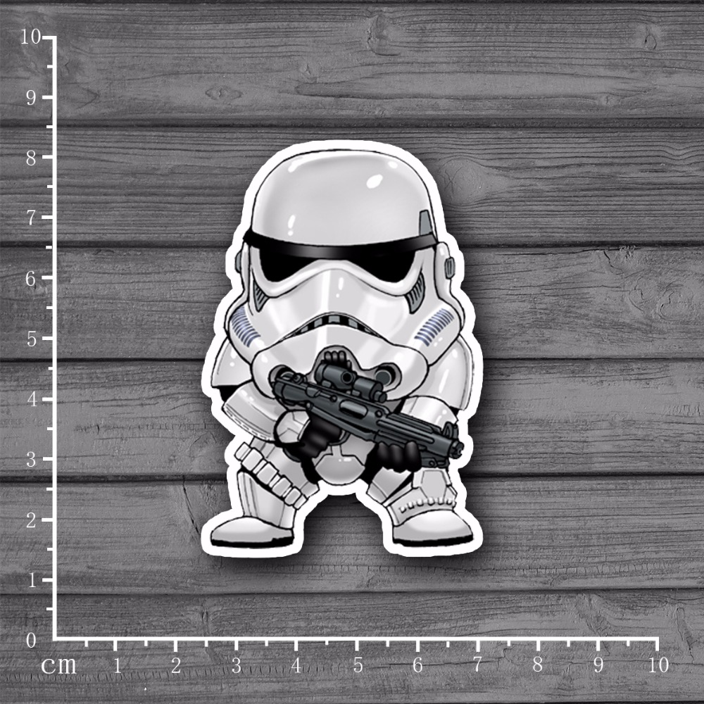 Star Wars Character Waterproof PVC Laptop Notebook Skin Sticker Car Styling Home Decor Jdm For Kid Toy Suitcase Stickers[single]