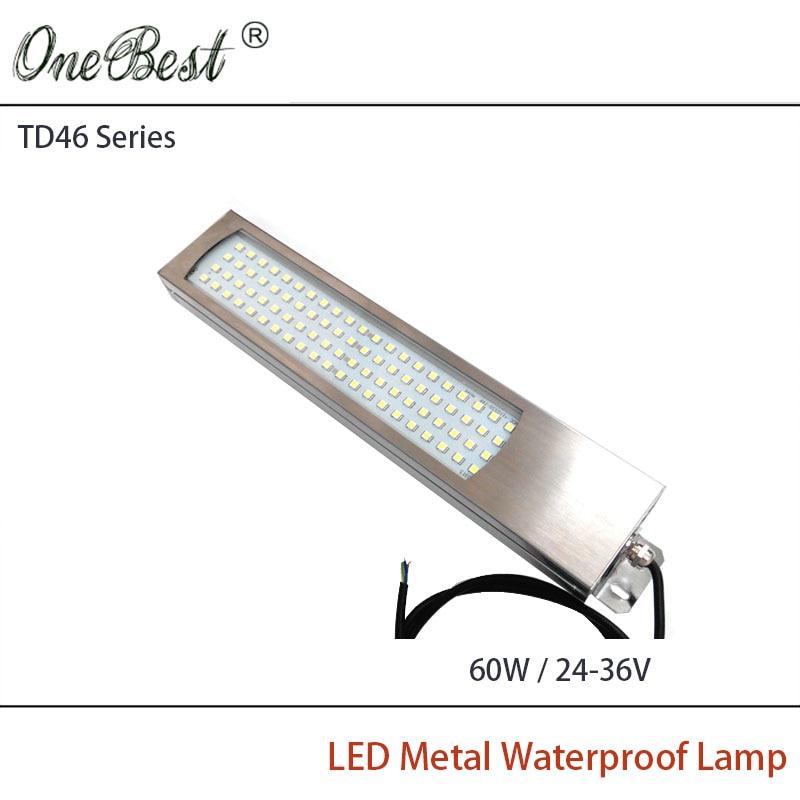 HNTD 60W 24V/36V TD46 Led Metal Panel Light CNC Machine Tool Waterproof IP67 Explosion-proof led work lamp Free shipping
