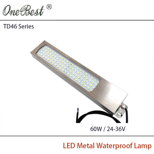 HNTD 60W 24V/36V TD46 Led Metal Panel Light CNC Machine Tool Waterproof IP67 Explosion-proof led work lamp Free shipping