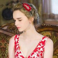 2017 Elegant Boutique Flower Shape Rhinestone Wedding Hairbands Handmade Wedding Hair Accessories Bridal Headpiece Made In