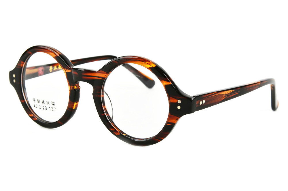 0a0e926423 40mm ~ 61mm Antique Round Harry Potter Vintage Retro Leopard Tortoise shell  Amber Optical Eyeglass Frame