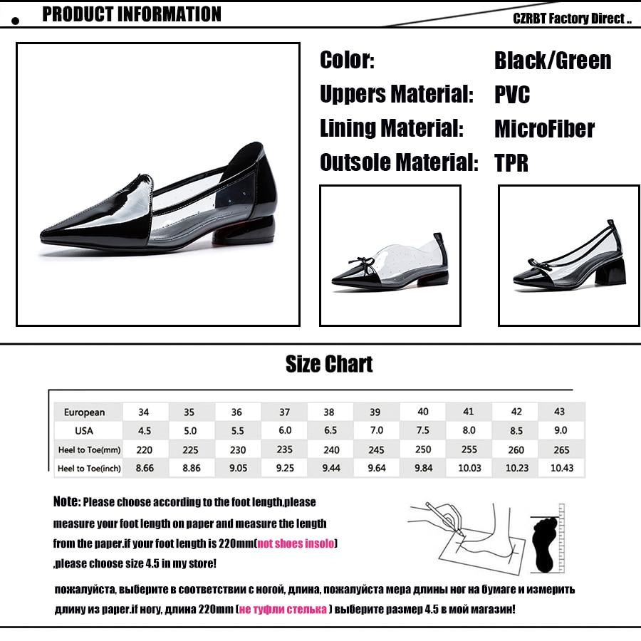 CZRBT/Летняя женская обувь на плоской подошве; повседневные Лоферы без застежки; женская обувь с острым носком; прозрачные босоножки из пвх; 2018; женская кожаная обувь - 6