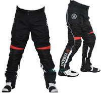 2018 new MOTO GP Motorcycle Racing Pants For YAMAHA Team Protective Riding Trousers Motocross With Protectors Black