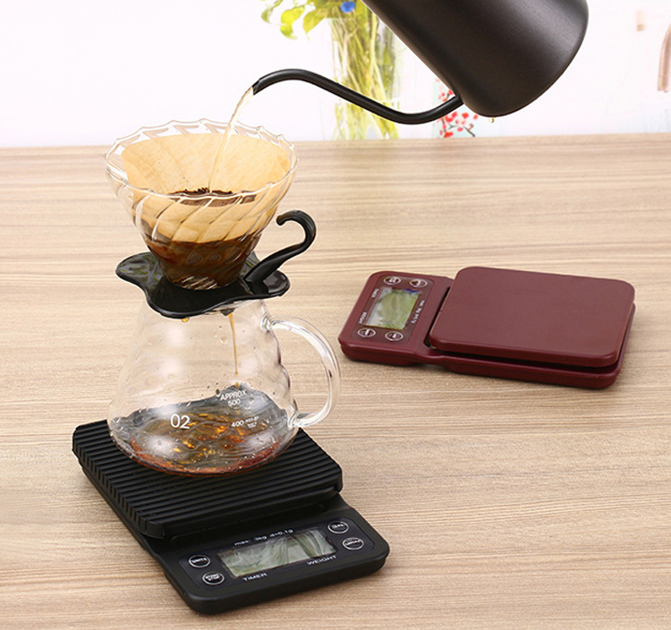 3000g/0.1g Digital Drip Coffee Scale with Timer Multi Balance Kitchen Food Weight Scale Precision Household scale
