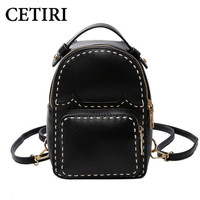 Mini Backpacks For Teenage Girls Vintage Pu Leather Feminine Quilted Small Women Backpack Youth Cute Feminina