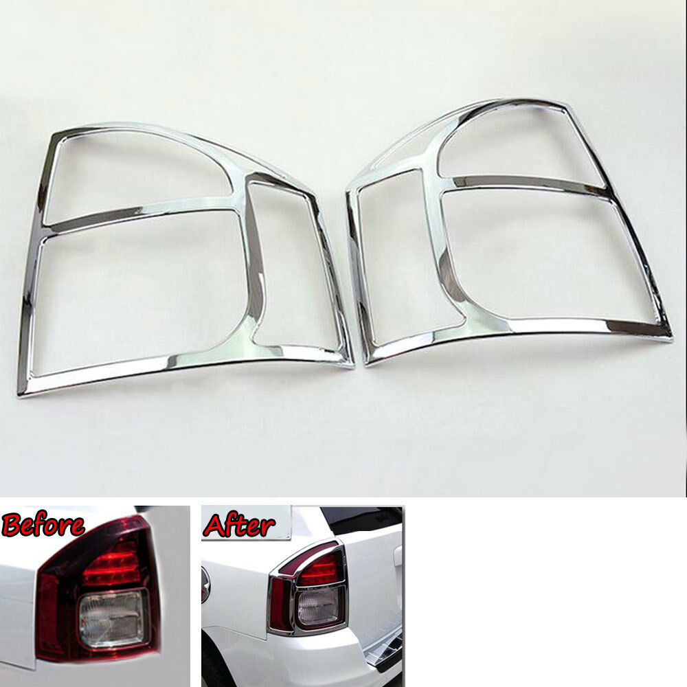 2pcs <font><b>Chrome</b></font> ABS Car Rear Tail Lamp Light Cover Trim Frame for <font><b>JEEP</b></font> <font><b>COMPASS</b></font> 2011-2015 exterior protective moulding image
