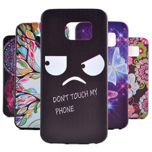 "Funny!""Dont Touch My Phone"" Soft TPU Case For Samsung Galaxy S6 edge Mobile Phone Rubber silicone Bags Back Cover Cases"