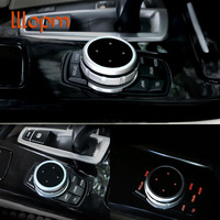 IDrive Car Multimedia Buttons Cover M Emblem Stickers For BMW X1 X3 X5 X6 F30 E90