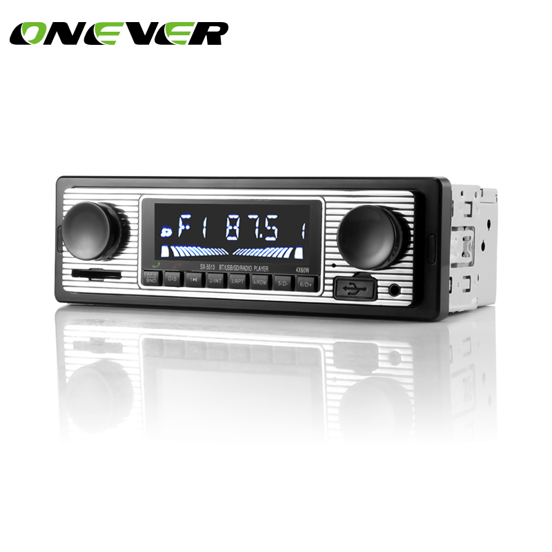 onever 12v bluetooth auto car radio 1din stereo audio mp3. Black Bedroom Furniture Sets. Home Design Ideas