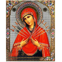 DPF Diamond painting Religious 5d Round Drill Diamond Painting Cross Stitch Pasted priest Room Decor diamond embroidery Picture