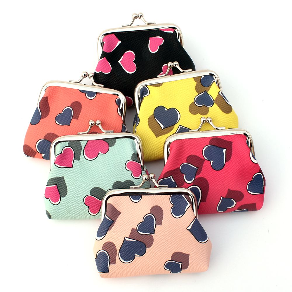 Coin purse!Cartoon cute girl coin purse lady's PU leather buckles coin bag women Hasp change purse,Female zero wallet pouch Gift bosca old leather coin purse