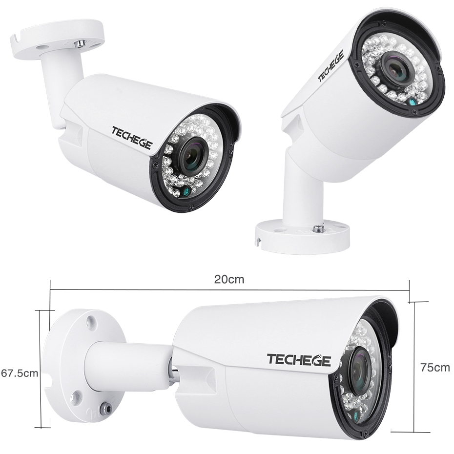 Image 3 - Techege 8CH 1080P POE NVR kit 2MP 3000TVL PoE IP Camera P2P Audio CCTV System IR Outdoor Night Vision Video Surveillance Kit-in Surveillance System from Security & Protection