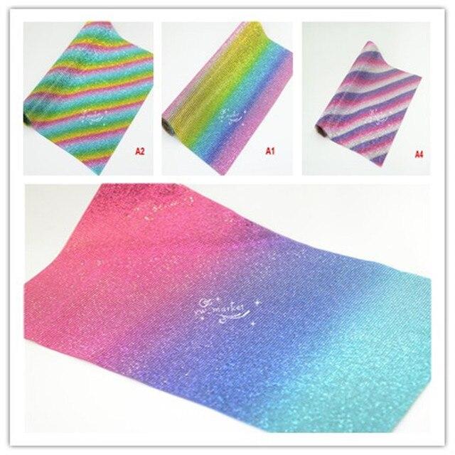 24cmx40cm Rainbow Hotfix Glass Rhinestone Mesh Trim Fabric Sheet Crystal  Applique Band For DIY Dress Jewelry 633f9b64c2af