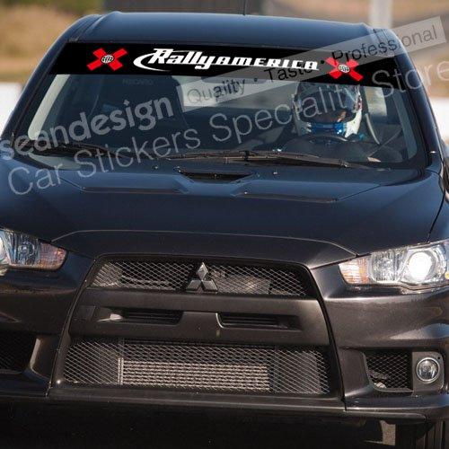 Autocollant de décalque de pare-brise de X Games Rally America G06 PVC
