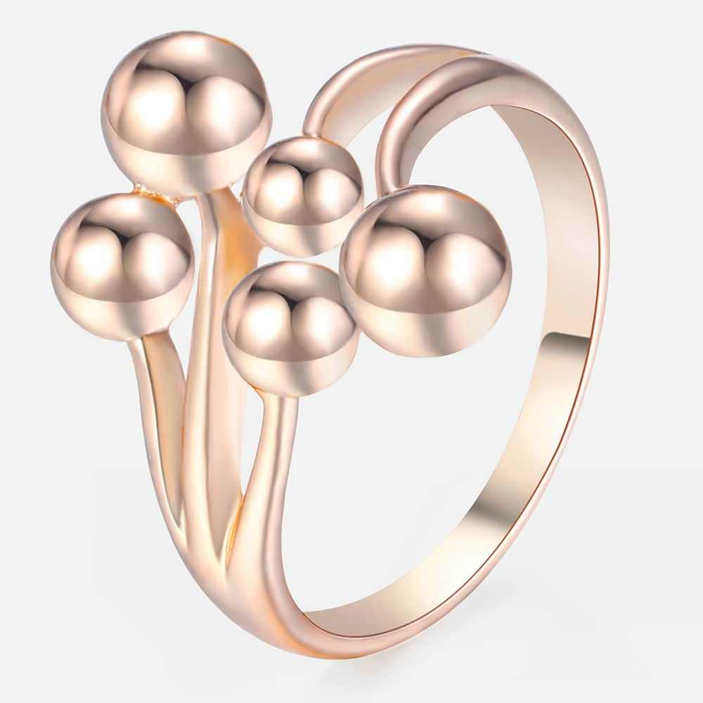 Trendsmax Vine Balls Rings for Women 585 Rose Gold Wedding Rings Engagement Ring Fashion Jewelry Gift for Women Girls GR40