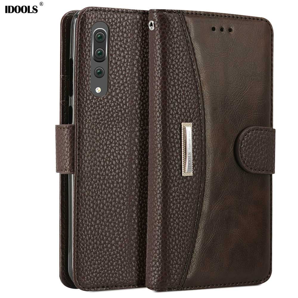 IDOOLS Flip Case for Huawei P20 Pro P20Pro Wallet Card Slots PU Leather Kickstand Back Cover Bags Cases for Huawei P20 Pro Capa