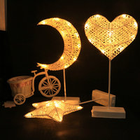 BRIGHTINWD LED Night Light Table Lamp Heart Star Moon Lighting Gift Toys Home Party Decoration Desk Lamps Christmas For Kid Baby
