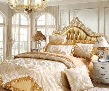algodn ropa de cama de satn de algodn acolchado falda de la cama seis