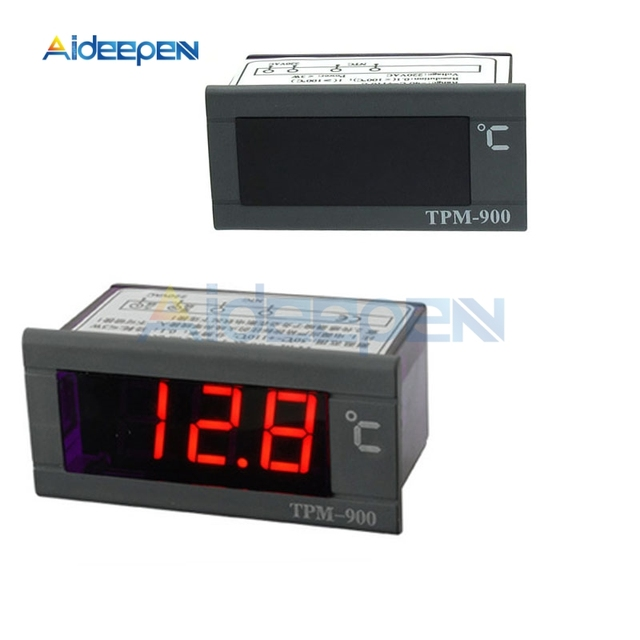 TPM-900 220V Digital Temperature Thermostat Thermo Temperature Controller LED Panel Meter Control with with NTC Sensor
