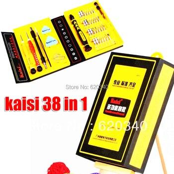 Freeshipping Kaisi multipurpose 38 in 1 Precision Screwdrivers Kit Opening Repair Phone Tools Set for iPhone 4/4s/5 iPad Samsung