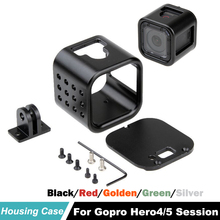 цена на Protective Frame For GoPro Hero 4 Session Shell CNC Aluminium Alloy Housing Case Cover for GoPro Hero4 Session 4S Sports Camera