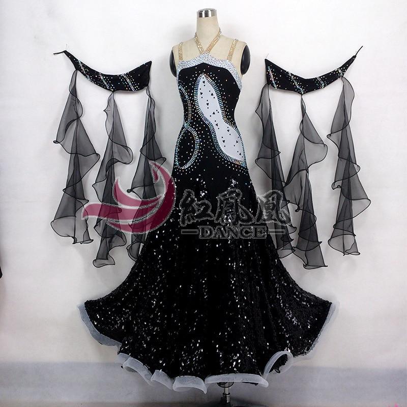 8High-end International Standard Ballroom Smooth Dance Competition Dress, /Ballroom Standard Tango Waltz Dance Dress