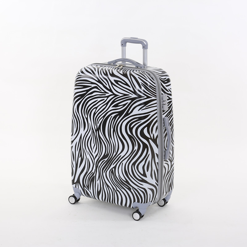 Wholesale!20 inch female pc hardside trolley luggage bag on universal wheels,fashion zebra printed travel luggage for women wholesale 14 20 24 28inches pc butterfly travel luggage sets 4 pieces universal wheels trolley luggage sets for women