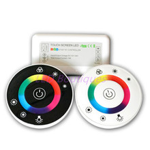 LED Touch Round RGB Controller DC12V-DC24V 18A 7 Keys RF Remote controller