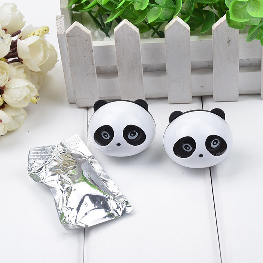 2pcs car-styling Car Air Conditioning Panda Car Perfumes original 5ml Solid Air Freshener Vent Flavoring In the Car humidifier
