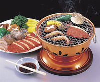 Korean charcoal barbecue flue cured Japanese embedded table top charbroiler stove cast iron charcoal oven BBQ grill