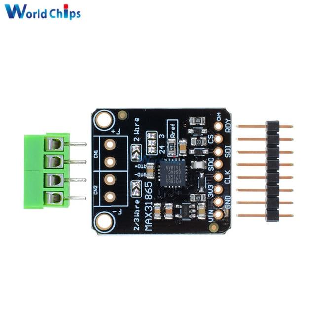 Spi 3 3v 5v Max31865 Pt100 Pt1000 Rtd To Digital Converter