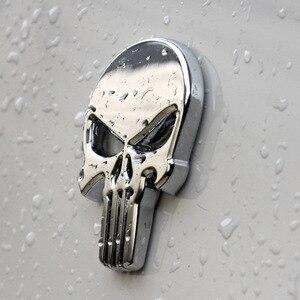 Image 2 - 金属 skull パニッシャー頭蓋骨クロームエンブレム
