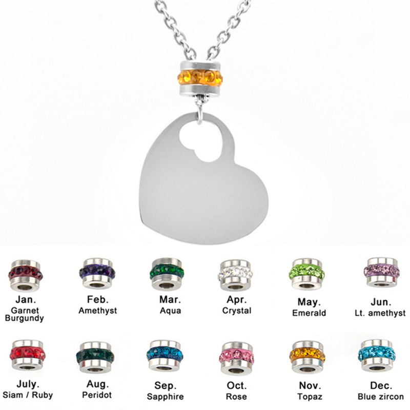 Novel Designs Delightful Colors And Exquisite Workmanship Rational Kettingen Voor Vrouwen Mix Styles Birth Stones Women Choker Stainless Steel Charm Necklace Female Jewelry Birthday Gift 2018 New Famous For Selected Materials