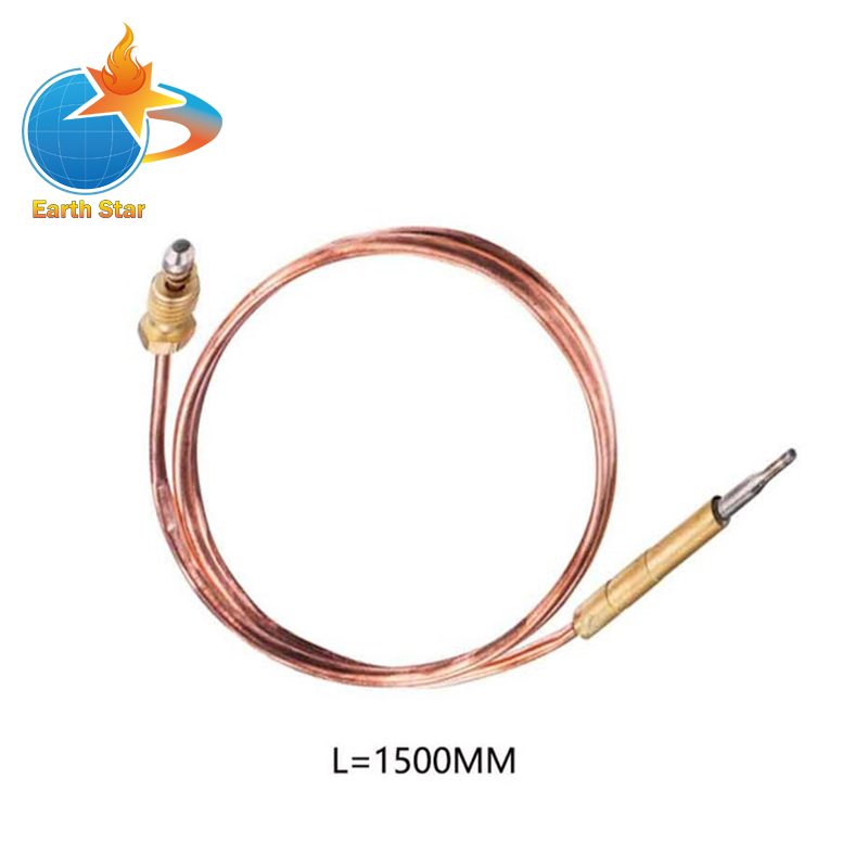 1500mm M9X1 End Thread Gas Water Heater Parts gas valve assemly thermocouple sensor