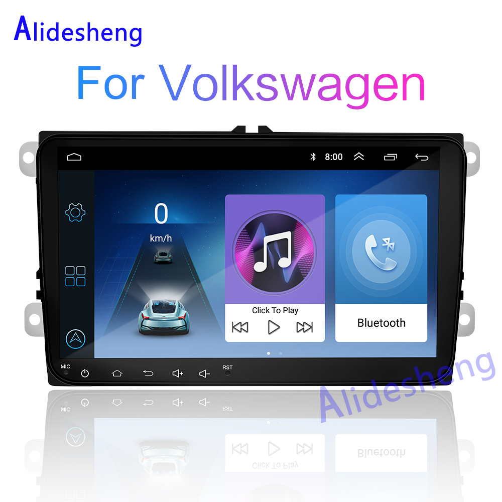 Car Multimedia player Android 8.1 GPS 2 Din Stereo For Volkswagen VW POLO Amarok PASSAT