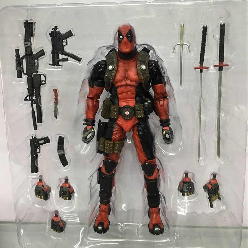 20cm Ultimate Marvel Deadpool Super Poseable Action Figure Toy Collectible Presente de Natal Da Boneca