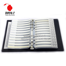 0805 1% SMD Resistor Sample Book 1/8W 0R 10M 170valuesx25pcs=4250pcs Resistor Kit 0R~10M 0R 1R 10M