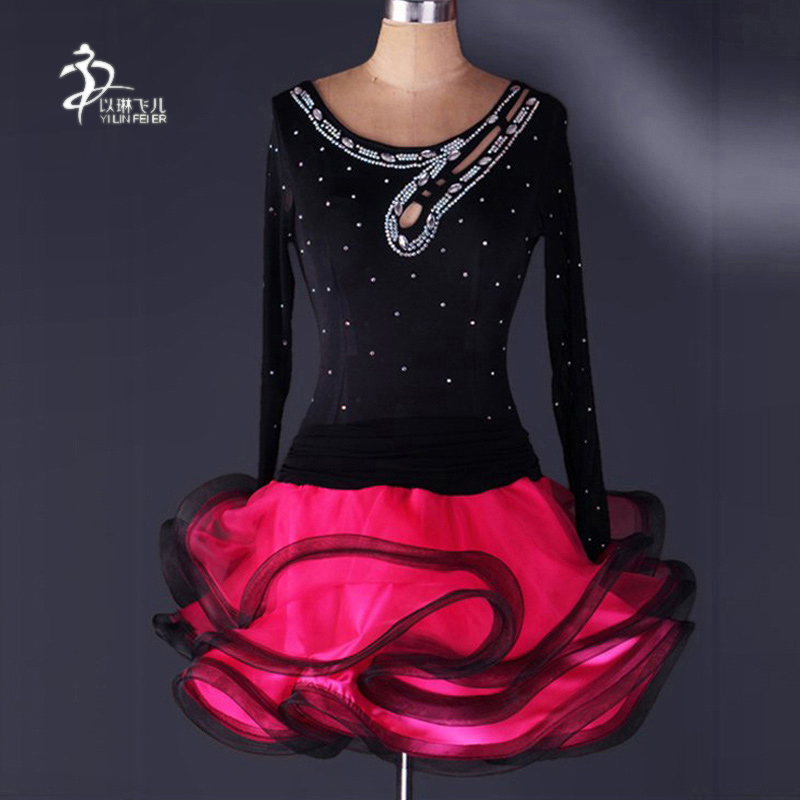 New Latin Dance Costumes Girls Adult Female Latin Ballroom