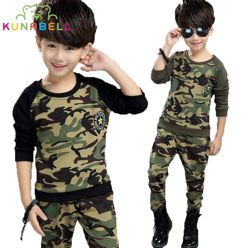 Children Clothing Sets For Boys Cotton Camouflage Sports Suits Spring Kids Tracksuits 2017 Teenage Boys Sportswear Clothes H003 kids clothes boys clothing sets summer sport suit children short sleeve camouflage pant suits 1 4t toddler tracksuits 2017