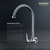 Full Copper Wall Mounted Cold Vegetable Washing Basin Faucet Ceramic Valve Core Universal Swing Kitchen Faucet