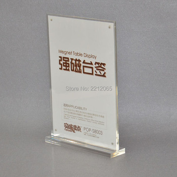 (Pack/6units) A4 T Insert Straight Acrylic Sign Holders Display (W210xH297mm) ADS004-1
