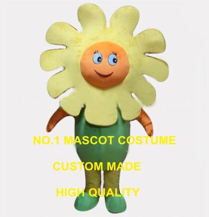 little yellow sun flower mascot costume adult size cartoon wild flower theme school performing costumes carnival fancy 2602
