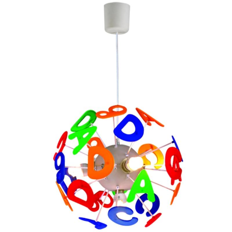 Modern Creative Colorful English Letters Pendant Lamp For Kids Children Bedroom Lighting Fixtures luminaire Suspension 110-240V modern pendant lights for children kids room bedroom lighting suspension luminaire basketball e27 bulb lamp led pendant light