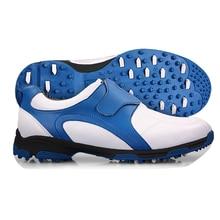 Marca pgm golf para hombre calzado deportivo zapatillas con velcro gancho bucle de peso Ligero y Pinchos y Transpirable y Estable y a prueba de agua