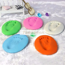 Taoqueen Baby Care Air Drying Handprint Footprint Imprimt Kid Casting DIY Tool Soft Plasticine Polymer Clay Toy(China)