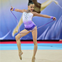 Custom Apparel Beautiful Rhythmic Gymnastics Leotards Rhythmic Gymnastics Leotard Handmade Dance Ice Skating Girl 7 Years