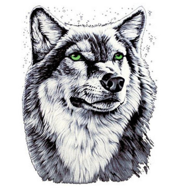 Shirt Patch Patches Wolf On 25cm Flower Design Pattern Iron T Logo 8Nn0Omwv